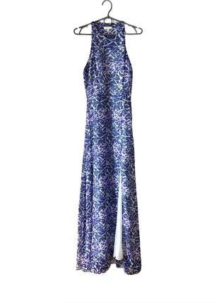 Платье с разрезом, макси