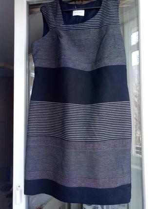 Платье, в составе лен!