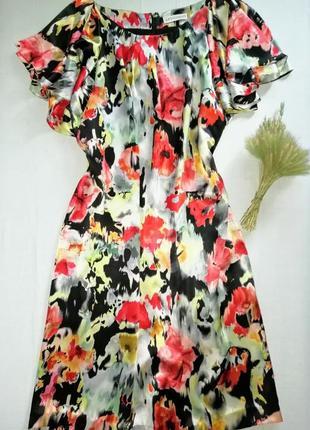 Шёлковое платье миди большого размера
