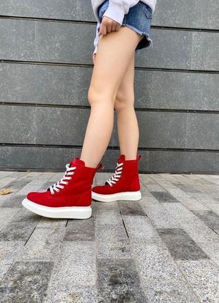 Ботинки из натуральной замши1 фото