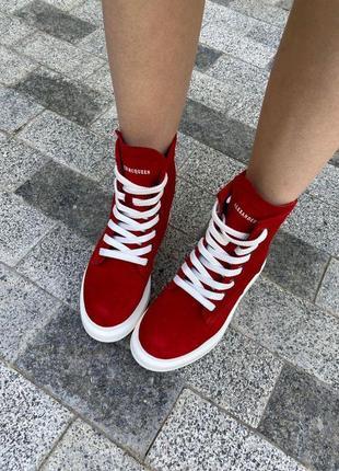 Ботинки из натуральной замши7 фото