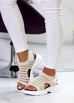 Женские спортивные босоножки текстиль7 фото