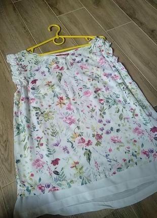 Очень красивая нежная летняя блуза майка вискоза размер 381 фото