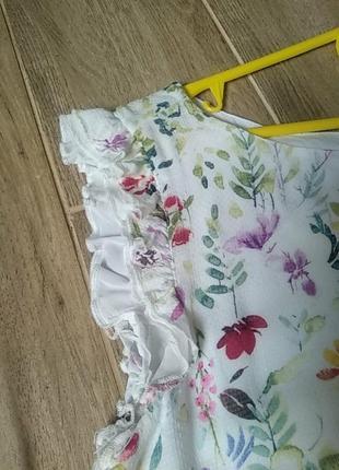 Очень красивая нежная летняя блуза майка вискоза размер 382 фото