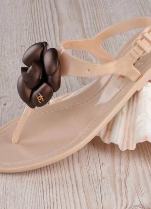 Акция! пляжные силиконовые босоножки шлепанцы вьетнамки мыльницы с стиле channel.