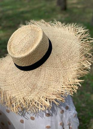 🦋 солом'яна шляпка шляпа капелюх 🦋1 фото