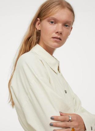 Вельветовое платье-рубашка прямого кроя из хлопка с поясом широкими рукавами4 фото