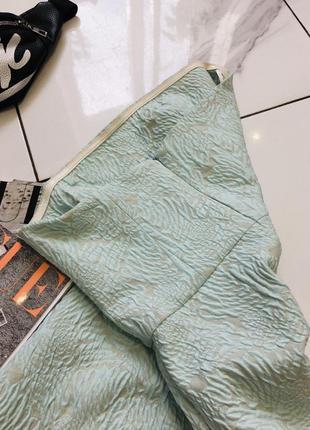 Стильное жаккардовое платье бюстье мятного цвета от top secret  1+1=3 на всё 🎁6 фото