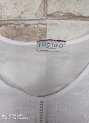 Блуза хлопок с кружевом блуза бавовна з мереживом4 фото