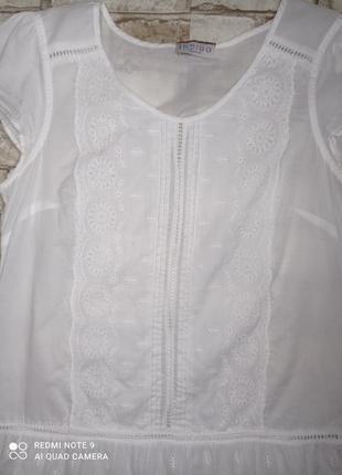 Блуза хлопок с кружевом блуза бавовна з мереживом3 фото