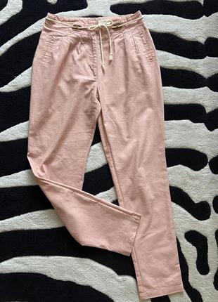 Ллянні штани з високою талією