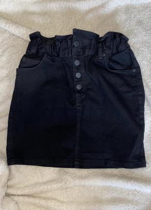 Красивая джинсовая мини юбка от бренда pull&bear1 фото