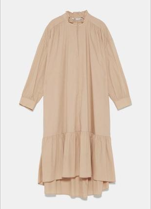 Платье zara из натурального хлопка