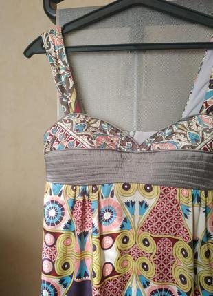 Платье из натурального шелка, шелковый сарафан