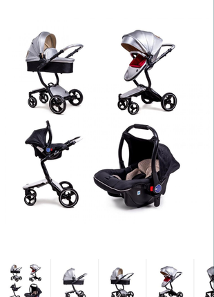 Детская коляска ninos a88, 3в1, автокресло, люлька, прогулка