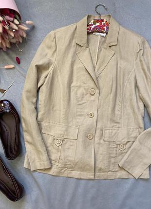 Лен 55% льняной жакет , пиджак в стиле zara