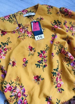 Платье в цветы3 фото