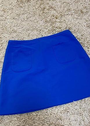 Синяя неоновая юбка1 фото
