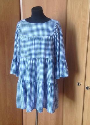 Платье в клеточку zara p.s1 фото