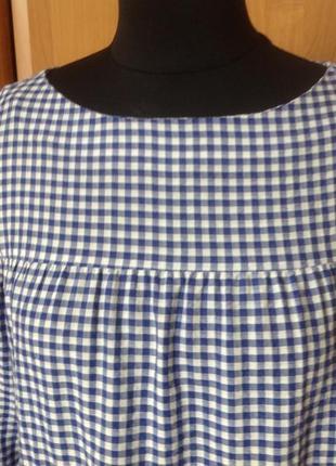 Платье в клеточку zara p.s2 фото