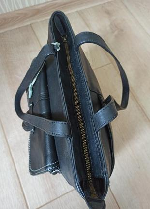 Качественная черная кожаная сумка radley5 фото