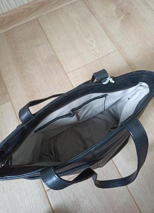 Качественная черная кожаная сумка radley6 фото