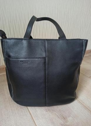 Качественная черная кожаная сумка radley3 фото