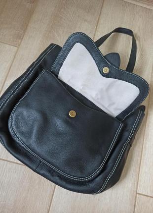 Качественная черная кожаная сумка radley8 фото