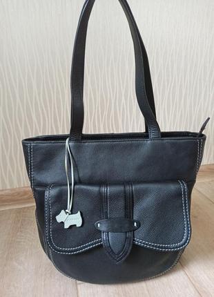 Качественная черная кожаная сумка radley2 фото