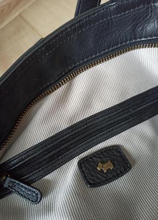 Качественная черная кожаная сумка radley7 фото
