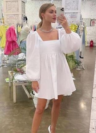 Красиве котонове плаття 🌷 біле, рожеве 🌈 якість 👍