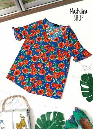 Красивейшая вискозная блуза на пуговках фирмы papaya