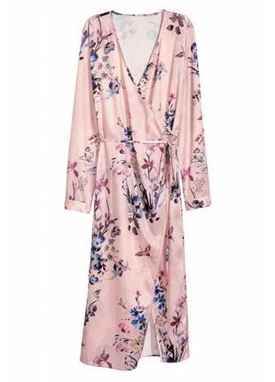 H&m платье на запах в цветочный принт