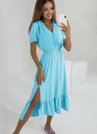 Красиве плаття-міді 🌷 м'ята, оливка,гірчиця 🌈 якість 👍