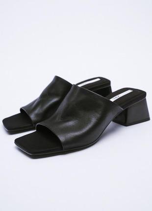 Кожаные сандалии босоножки шлёпанцы от zara оригинал новые 2021