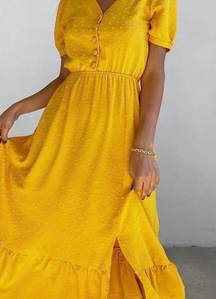 Красиве плаття-міді 🌷 гірчиця, м'ята, оливка 🌈 якість 👍