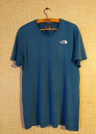 Синяя футболка от the north fase tnf