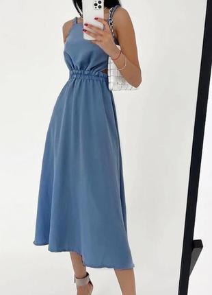 Красиве плаття з красивою спинкою 💗 4 кольори 🌈 якість 👍1 фото