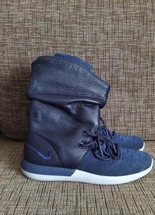 Новые кроссовки nike сапоги ботинки сникербуты кожа us 8,5 найк найки оригинал1 фото