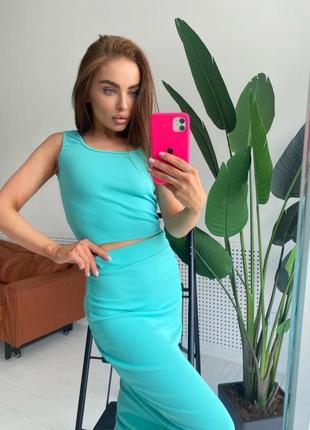 Костюм ✔️топ +юбка