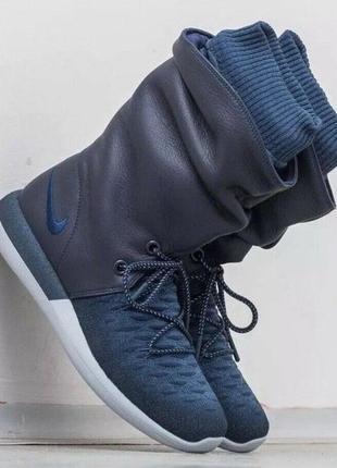 Новые кроссовки nike сапоги ботинки сникербуты кожа us 8,5 найк найки оригинал7 фото