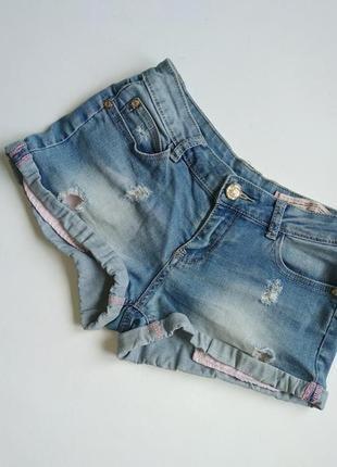 Шорты glo-story p.26 джинсовые короткие с дырками, молодежная одежда