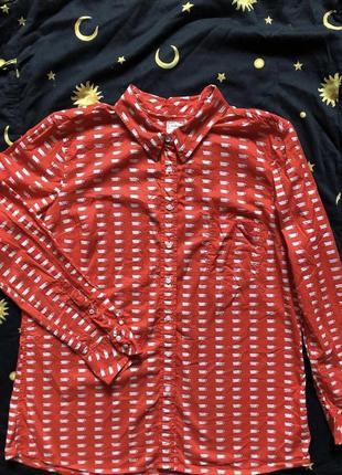 ❤️2=3❤️ рубашка с чашечками gap винтаж