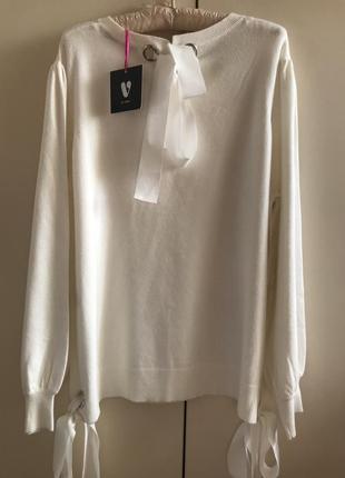 Белый  свитер с бантом by very, p. 16-18