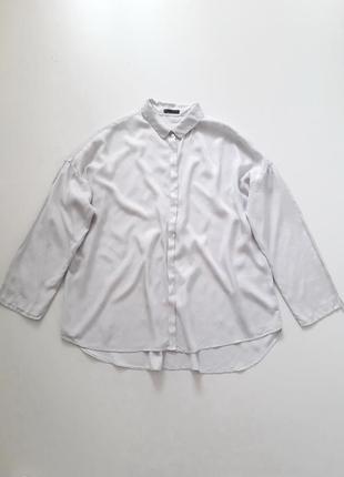 Шикарная вискозная рубашка оверсайз oska, р.1 (xs-s)