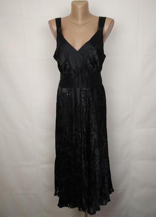 Платье шелковое шикарное в паетках monsoon uk 14/42/l