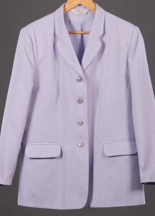 Лавандовый удлиненный   пиджак