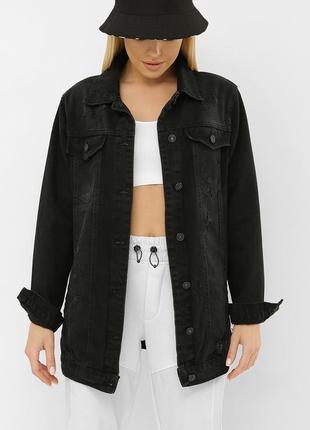 Джинсовая черная куртка - турция