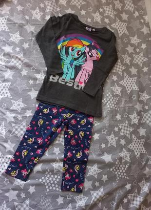 Костюм лосины и реглан my little pony 4 года (104 см)