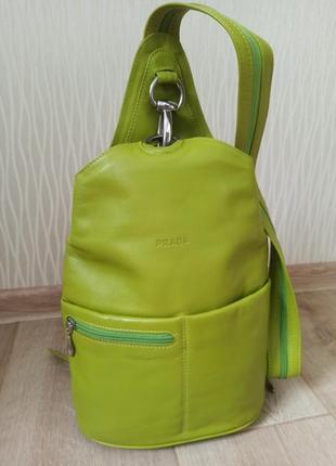 Кожаный рюкзак / сумка